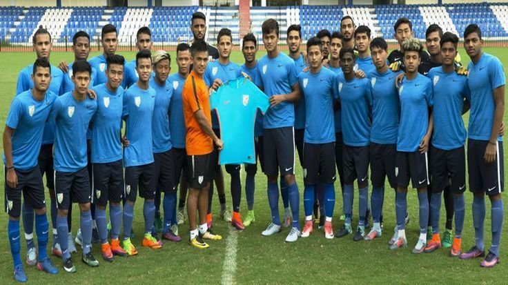 Give your best, Sunil Chhetri tells India U-17 boys as they prepare for their ma...