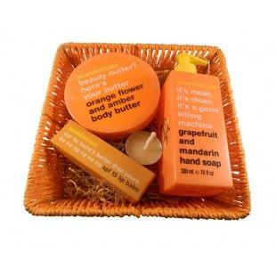 Cos cadou Crazy orange - http://livediva.ro/cadouri-online/Secret-Santa-cadouri-pentru-colegi