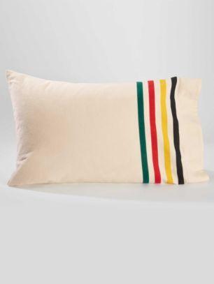 Hudson's Bay Blanket stripes flannel pillow case cover