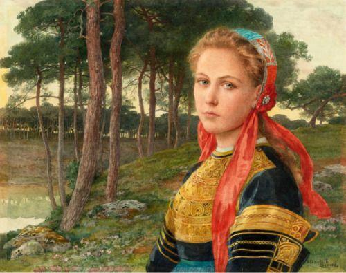 La forêt de Brocéliande  Elizabeth Sonrel (French, 1874-1953)