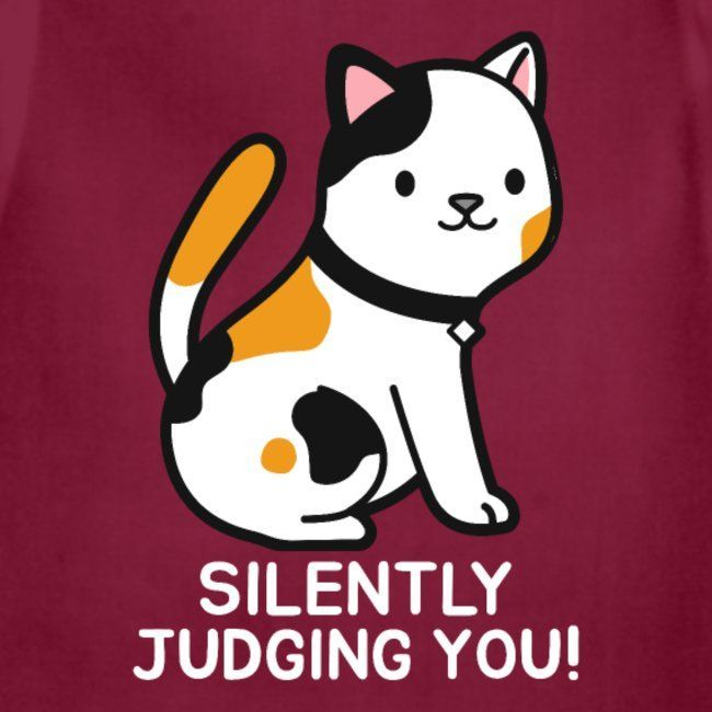 Cat Silently Judging You Adjustable Apron Funny Phone Wallpaper Funny Iphone Wallpaper Cute Cartoon Wallpapers