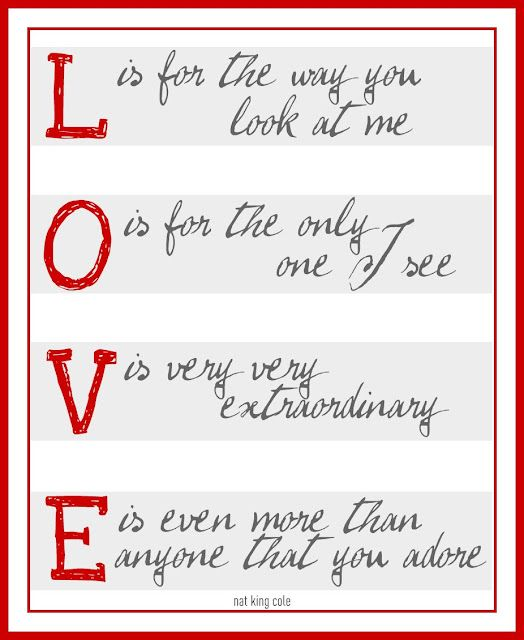"""L-O-V-E 