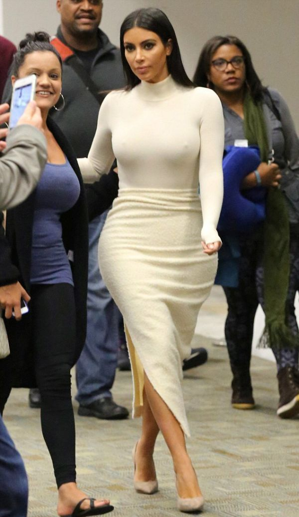 Kim Kardashian's White Dress Shows Off What You Want To See.