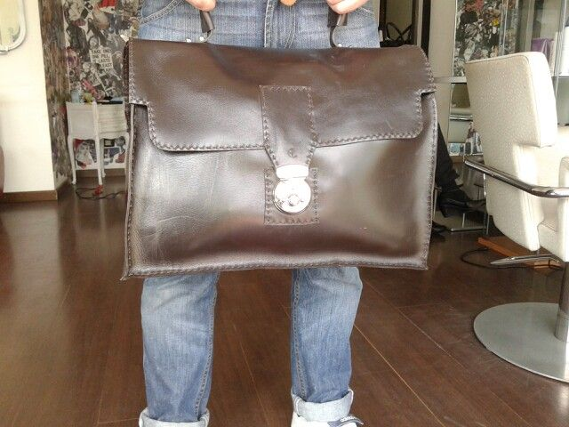 Doctor Leather bag handmade Americo Leonardi