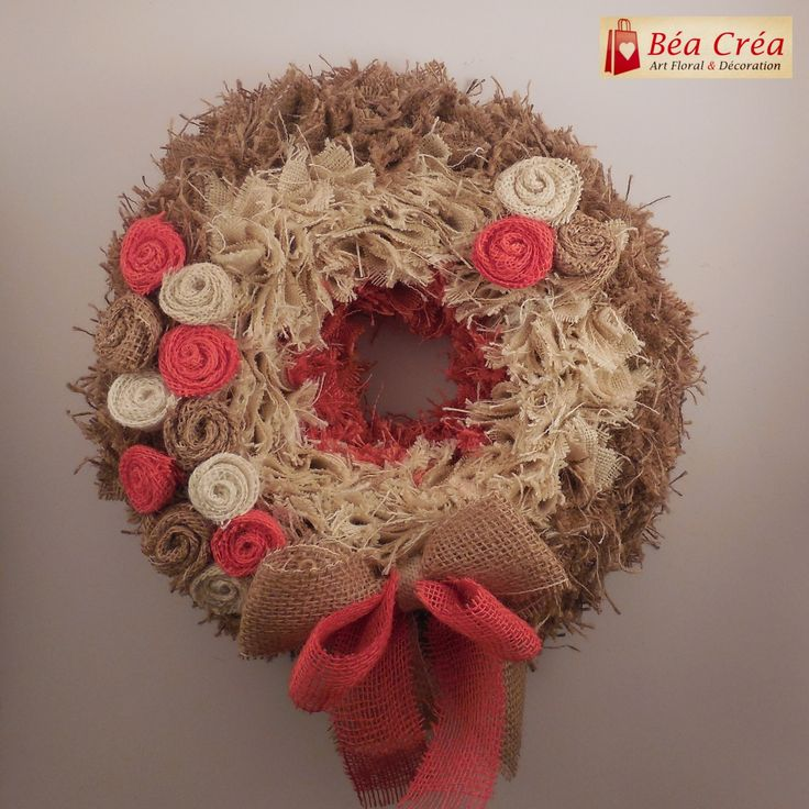 Couronne de d coration d 39 int rieur pour no l porte ou mur for Decoration interieur de noel