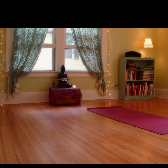 17 best images about yoga meditation room on pinterest for How to make a yoga room