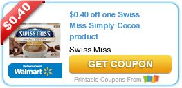 Mmmm ! Delicious #Coupon Savings $0.40 off one Swiss Miss Simply Cocoa product
