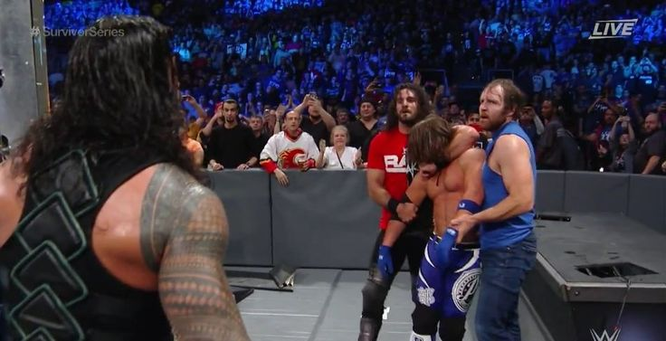 THIS WAS AWESOME DEAN DOES NOT LIKE AJ SO HE TEAMED WITH HIS FORMER SHILED MEMBERS, WHO ARE ON RAW! AND HES ON SMACKDOWN! AND ELIMINATED AJ!!!! But smackdown still won so whatever :)