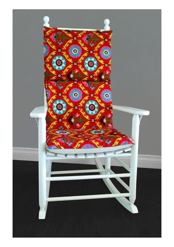 Rocking Chair Cushion Cover - Mayan Red