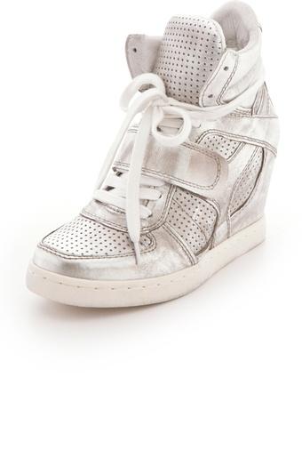 Ash Cool Metallic Wedge Sneakers - Lyst