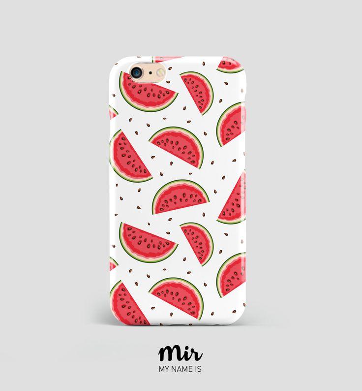 Funda Carcasa Móvil Sandías Fruta Verano Divertida Tumblr - Rojo Verde Blanco - Funda iPhone 6 6s Plus, iPhone 5 5S 5C, Samsung Galaxy S6 de MyNameIsMir en Etsy