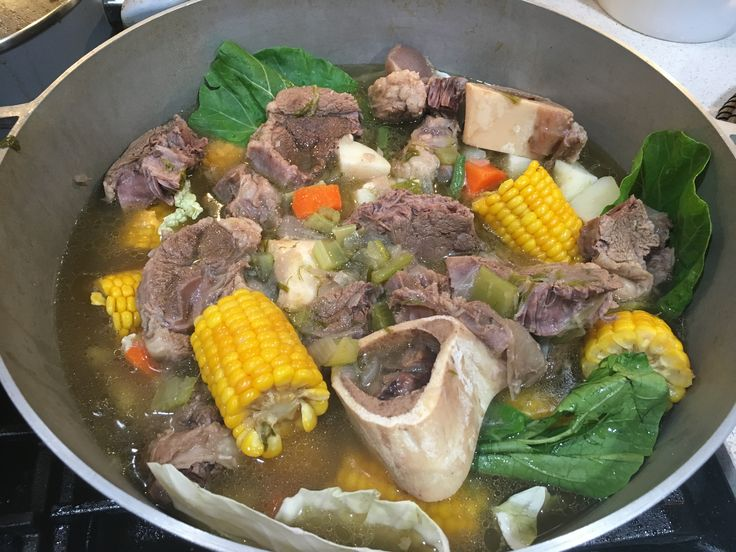 Beef shank with bone marrow soup( Bulalo)