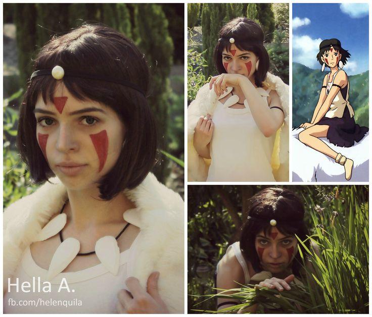 Monoke's Makeup; FaceBook page : http://tiny.pl/gmn5p  Instagram -> @hella_a_oficiall #mononoke #cosplay #makeup #ghibli #characterization #art