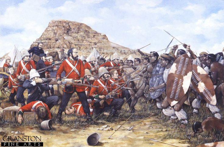 Battle of Isandhlwana, 22nd January 1879 by Brian Palmer.