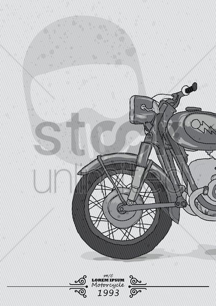 vintage motor cycle banner Stock Vector