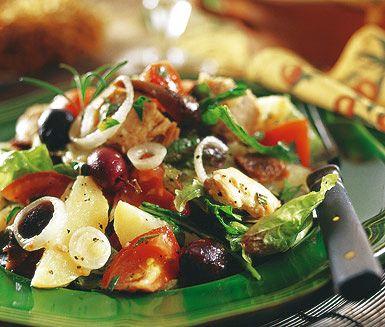 Recept: Salade Niçoise med potatis
