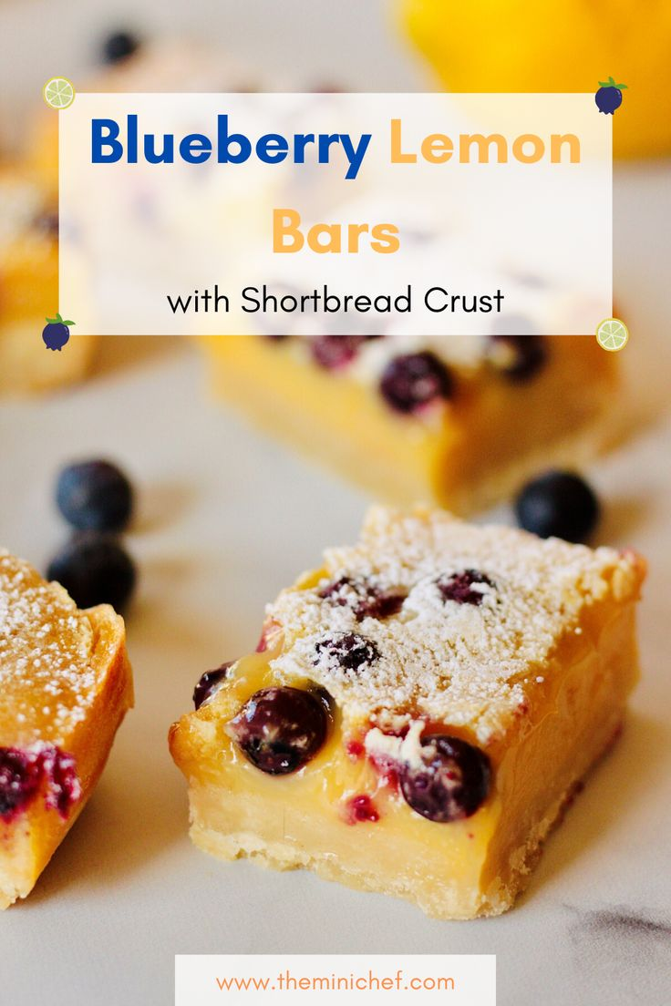 This blueberry lemon bar recipe is so easy to make, and the tangy and sweet flavor of the lemons combined with the refre…