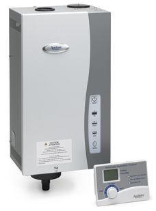 The humidifier that is not dependant on your HVAC system to provide humidity to the largest of homes: the Model 800.  The Aprilaire Model 800 Residential Steam Humidifier features truly automatic control, so there's no need to manually control the humidifier – though it can be installed in manual mode, if desired.