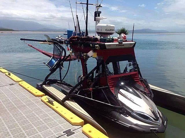 132 best images about fishing on pinterest hobie pro for Jetski fishing rack