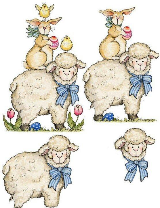 Easter lamb 3d card