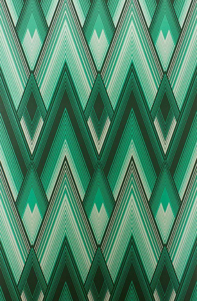 Astoria Wallpaper In Green Color By Osborne Little In 2019