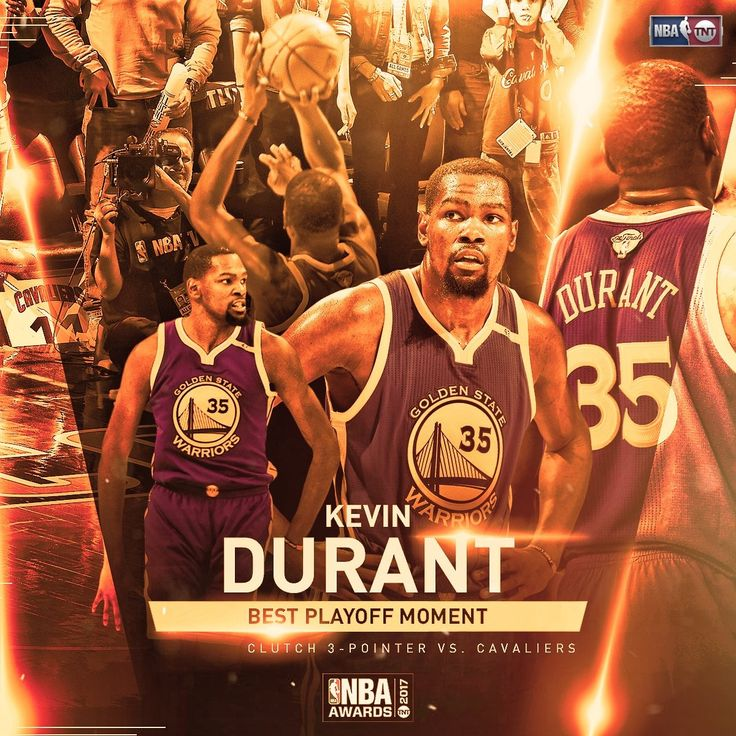 #GoldenStateWarriors #KevinDurant is the winner of the 2016-17 NBA PlayOff Moment of the Year at the NBAAwards on Monday June 26.