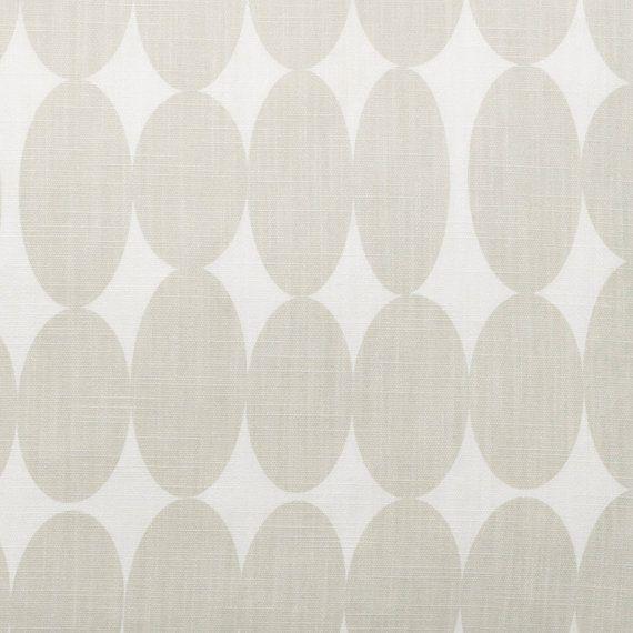 Grey Fabric Curtain Fabric Spotty Fabric Light Grey Retro