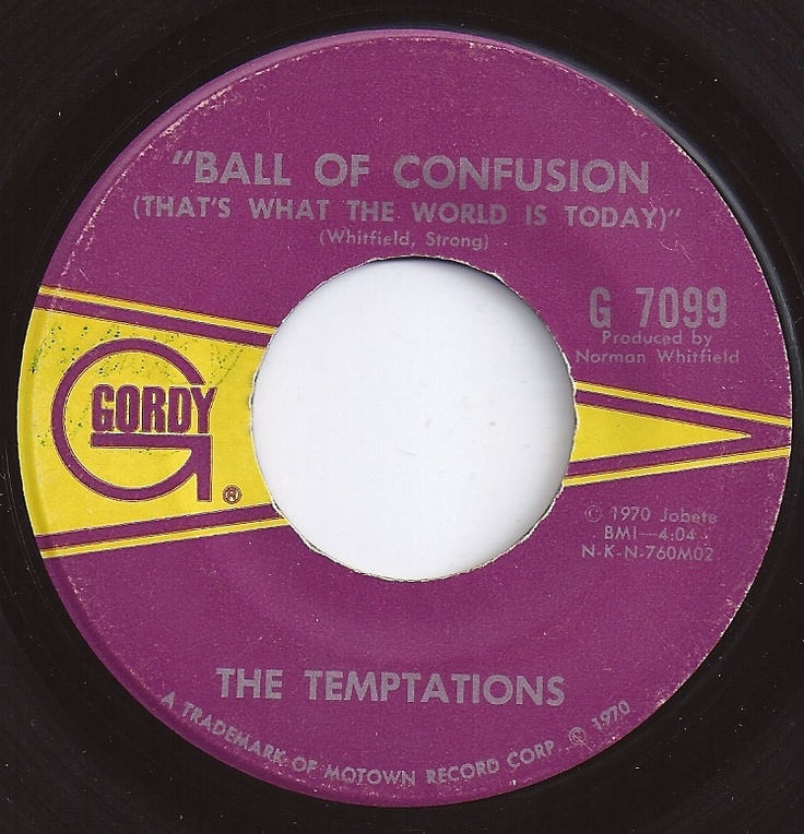 Lyrics to ball of confusion by the temptations