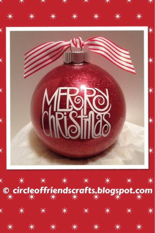 Photo on Circle of Friends Crafts: Merry Christmas Glitter Ornament