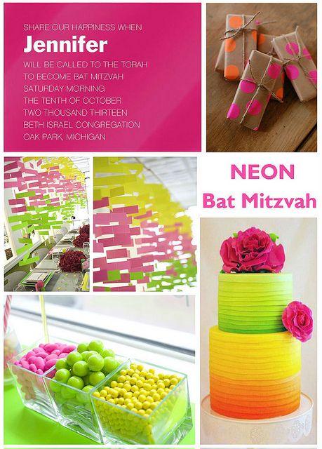 Neon Bat Mitzvah Theme!