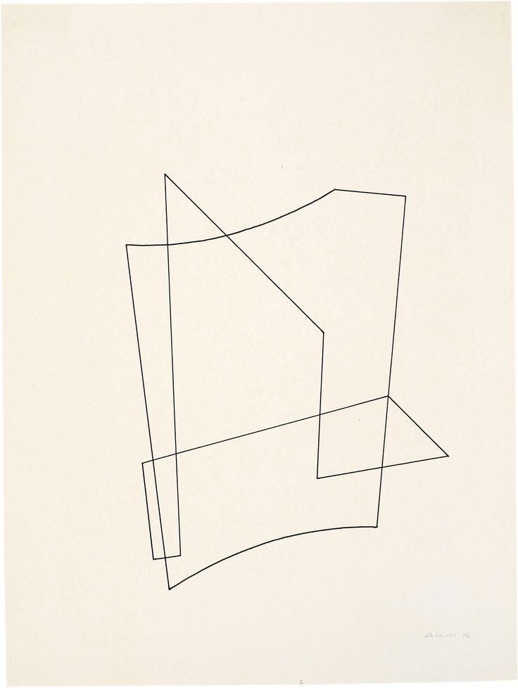 quincampoix:  Josef Albers, Linear construction, 1936
