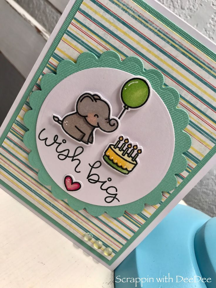 Hello! I recently got the Elphie Selfie stamp set by Lawn Fawn and I just can't stop making cards with it! This sweet little guy is ready t...