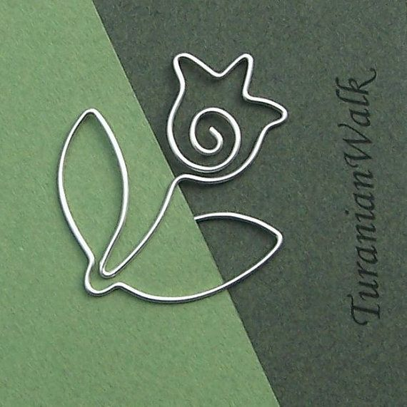 Tulip  wire bookmark by TuranianWalk on Etsy, $6.50