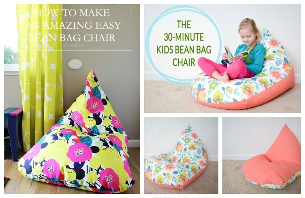 Quick Diy Kids Bean Bag Chair Free Sewing Pattern Tutorial Reading Bean Bag Bean Bag Chair Bean Bag Chair Kids Kids Bean Bags