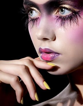 Illamasqua. I couldn't call it practical, but it makes me want to write a theatrical piece to go with this look