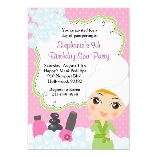 48 best images about Party Time American Girl Spa Party on – Little Girl Spa Party Invitations
