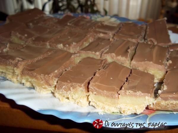 Μπισκότα με καραμέλα γάλακτος και σοκολάτα #sintagespareas
