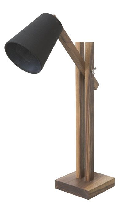 Lim  Walnut desk lamp base