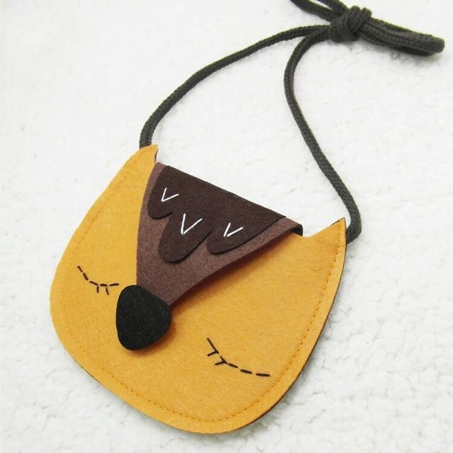 Ccsme DHL muchachas del niño de los bebés cabritos de la historieta 2015 del estilo de corea del bolso creativo del zorro hombro monedero de la moneda mini vestir