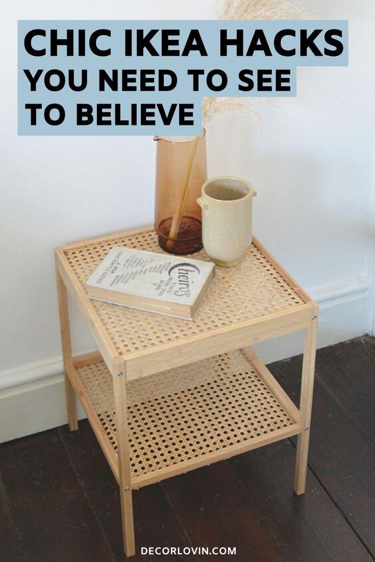 Chic Hacks You Won T Believe Are From Ikea Bedside Table Ikea Ikea Hack Diy Furniture Bedroom [ 1102 x 735 Pixel ]