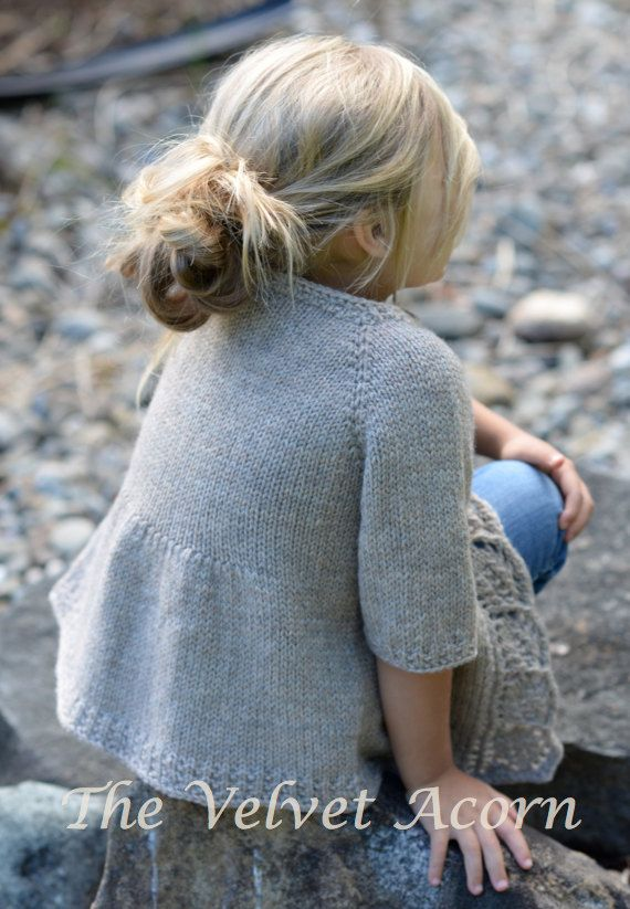 KNITTING PATTERN-The Cove Cardigan 2/3 4/5 6/7 by Thevelvetacorn