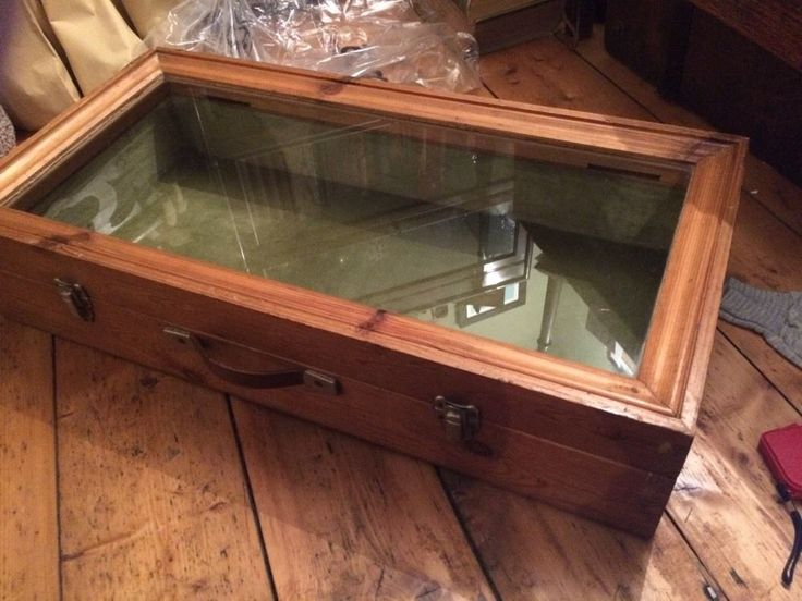 Large Vintage Wooden Counter Table Top Antique Jewellery