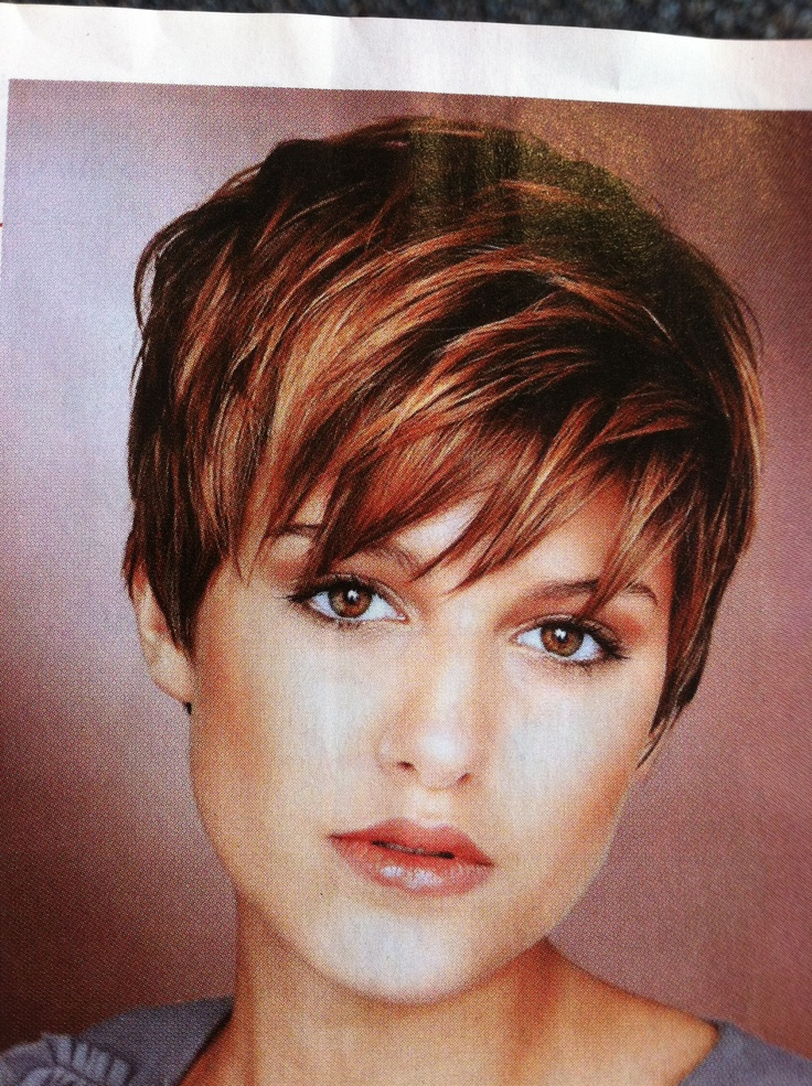 I really like these colors and cut....HMMMMM!!!! Great cut if you ever want to grow your hair out.