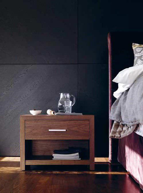 Table de chevet contemporaine / en bois / rectangulaire / avec tiroir BT 50.1 SCHRAMM