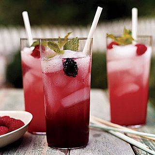 Berry-Lemon Sparklers: Easy to make berry-lemon sparklers can be garnished with sprigs of mint and fresh berries