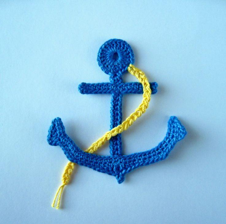 Crochet Pattern Anchor Applique   YouCanMakeThis.com