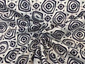 Tessuto cotone fantasia geometrica