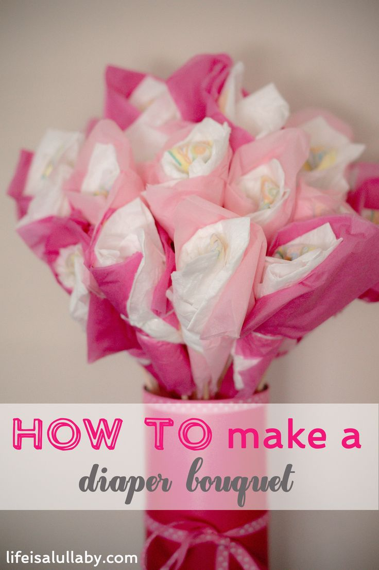 How to Make a Diaper Bouquet - step by step Photo tutorial - Bildanleitung