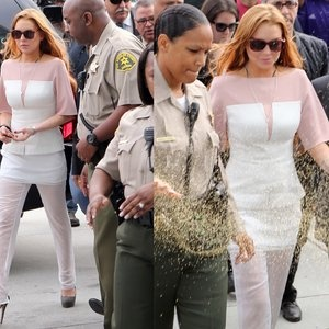 Good call on the Rosary LiLo. Lohan Evades Jail Time in Sheer Pants