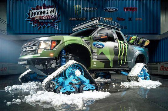 Ken Block Reveals Tracked Ford F-150 Raptor - Motor Trend WOT